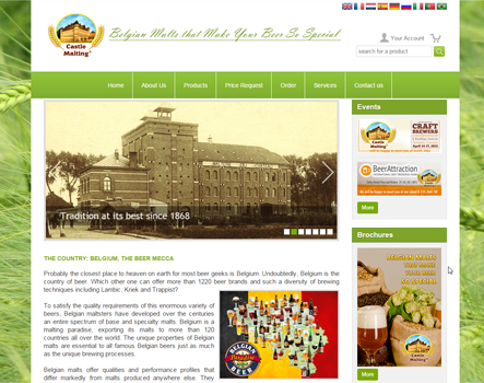 Castle Malting® is proud to launch the new version of its website
